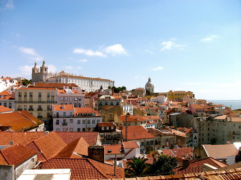 Travel in Europe: Alfama District in Lisbon, Portugal
