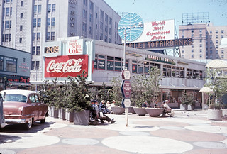 Westlake pedestrian mall, 1965