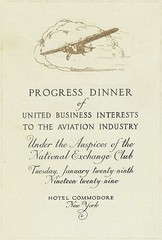 Souvenier program, Progress Dinner of United Business Interests to the Aviation Industry