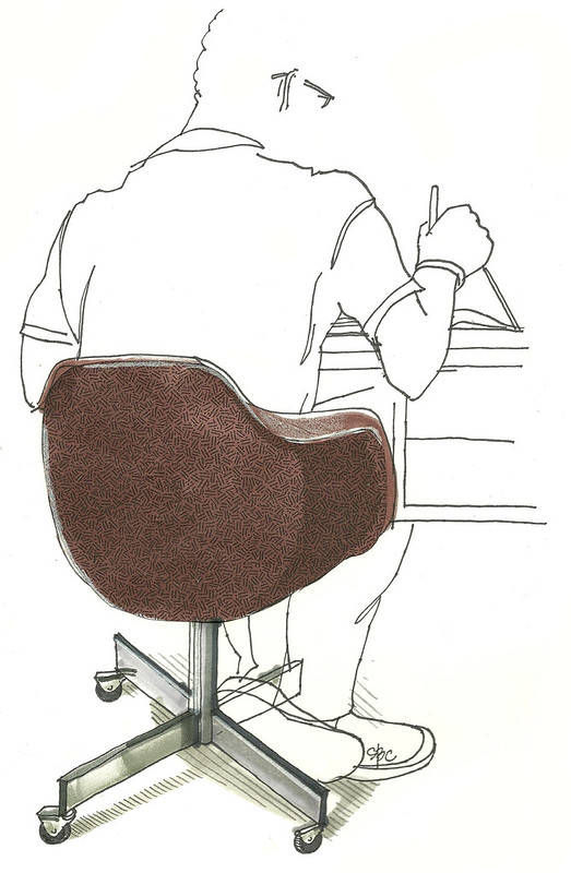 An Open Sketchbook 5 Of 642 Things To Draw Desk Chair