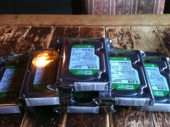 I should have some breathing room now. 18TB of new storage. Woot!