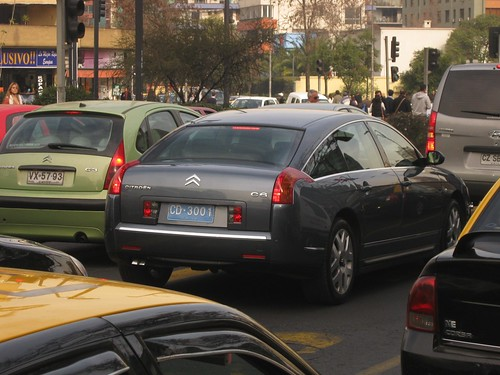 Citroën C6 diplomático - Santiago, Chile 2012