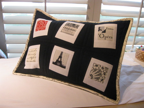 Polaroid picture block pillow
