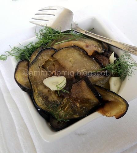 Melanzane con aglio e finocchiettp