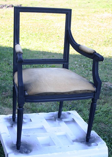painted auction chair