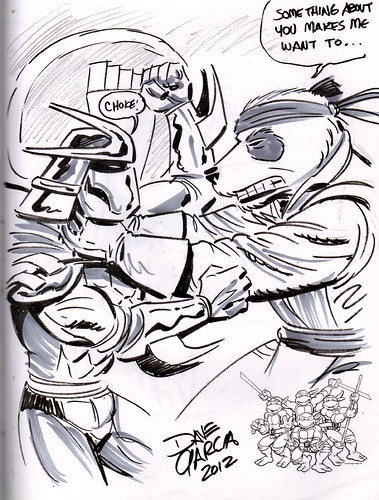 """SHREDDER v. PANDA KHAN"" ..art by DAVE GARCIA (( 2012 ))"