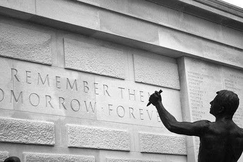 Carve their names with pride and remember them tomorrow and forever by Melodysparks (Chris Preedy)