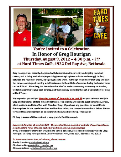 Fundraiser for Greg Hourigan