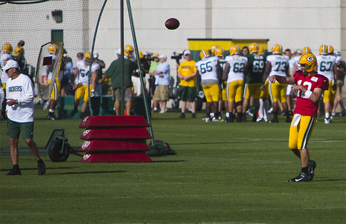 Aaron Rodgers Green Bay Practice by Ricky L. Jones Photography