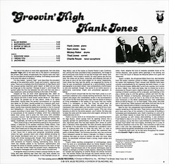 Groovin High Hank Jones Back