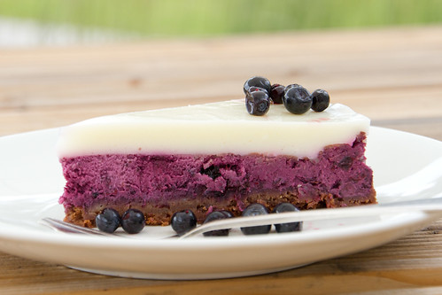 Bilberry cheesecake / Blueberry cheesecake / Mustika-toorjuustukook