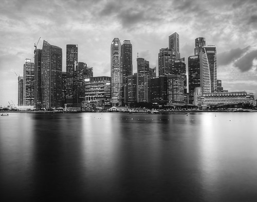 Singapore in black and white