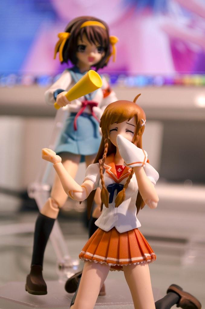 Haruhi and Mirai Figma