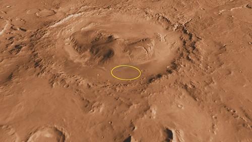 Curiosity Landing Site in Gale Crater (NASA, Mars, 2001)