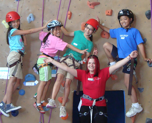 Kids at Planet Granite for Climbing Camps
