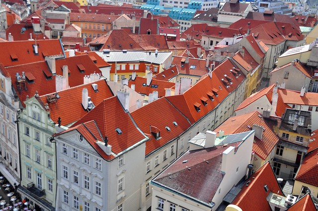 Prague Roof Tops from the Old Town Tower