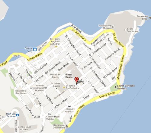 mapa de la valeta - Google Maps