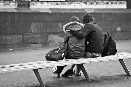 Lovers Sharing an iPhone Moment
