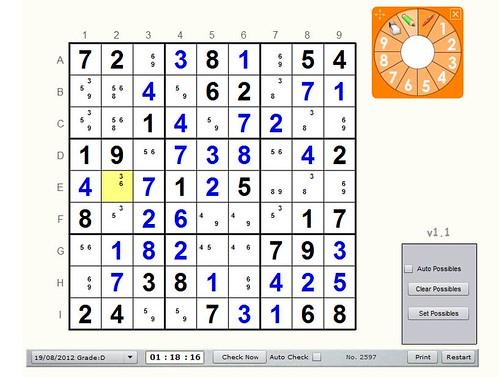 Unsolved sudoku 3