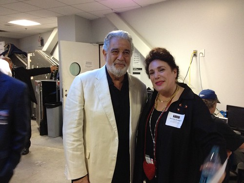 Donelle Dadigan with Placido Domingo