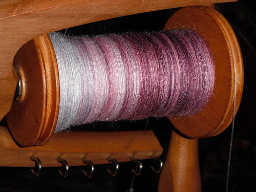Merciboo Top, spun up, just one bobbin.