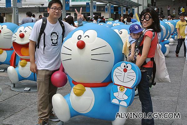 Doraemon with a mini Doraemon