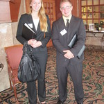 IWU students Kristen Wharton and Cameron Blossom --