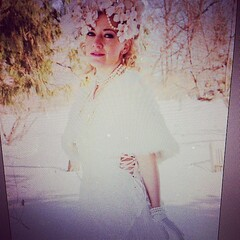 #sneakpeak from today's #photoshoot with @Stylehunterfox trying to get #spring to come out! -12c that felt much worse!!! #winnipeg winter, we're done now thanks!! She also did her hair, makeup, and altered the #dress! #vintage #retrodress #retrostyle #f
