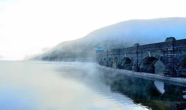Misty dam at Elan Valley