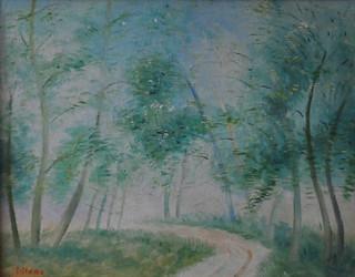 LILLONI, VIAREGGIO, 1961, olio su tela, 47 x 60,5 cm