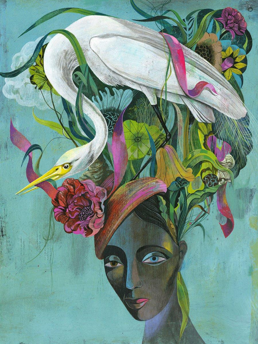 Flowerhead by Olaf Hajek
