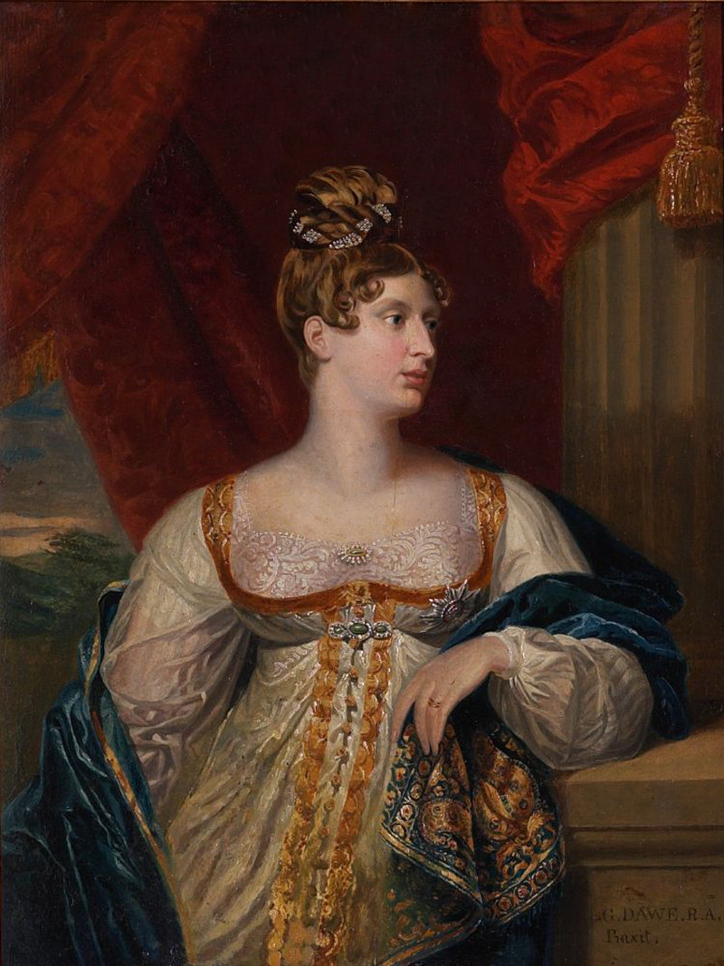 Princess Charlotte Augusta of Wales, heiress presumptive of the British crown, 1817