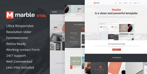 Marble v1.0.0 - Multipurpose HTML Template