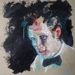 matt smith doctor who | mixed media drawing