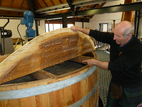 Fermentation in Washback, Isle of Arran Distillery