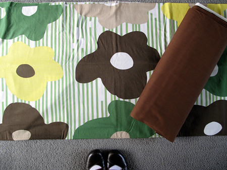 Ikea Flower Fabric with bolt for backing