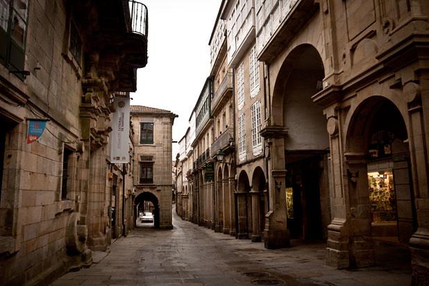 Santiago de Compostela streets, Galicia.