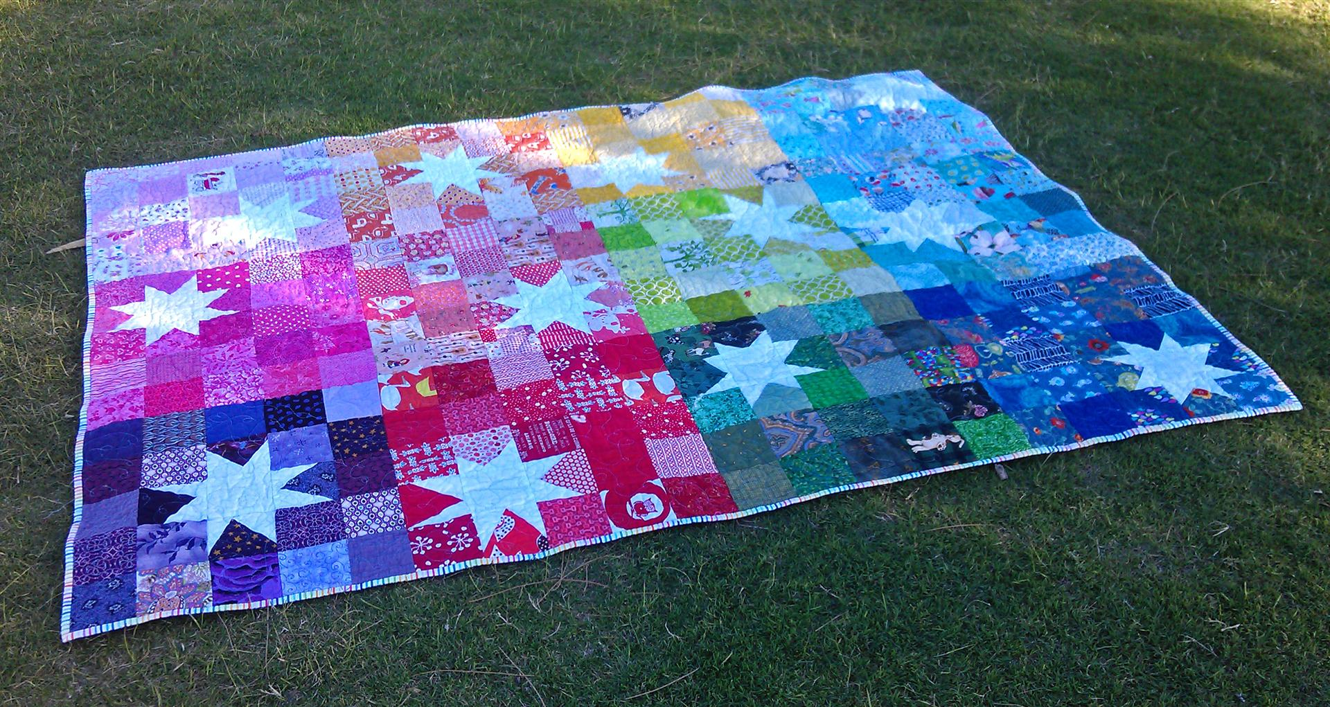 Reverse Rainbow Starburst finished