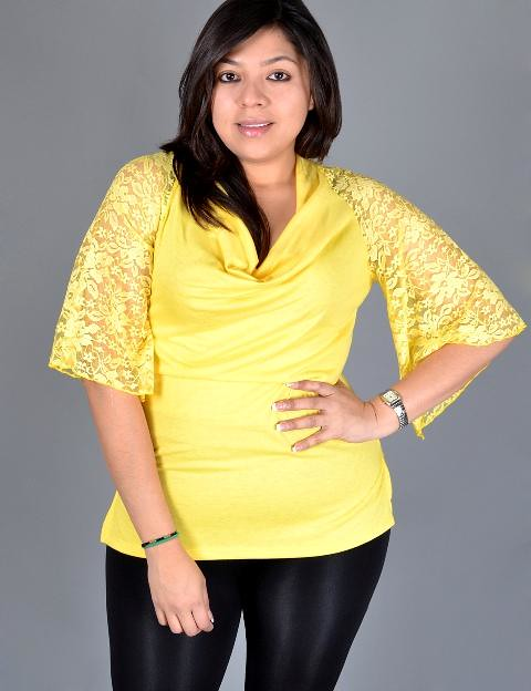Yellow Blouses Plus Size 12