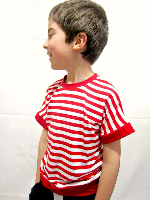 stripey dolman boy side
