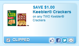 Save $1.00 On Any Two Keebler Crackers Coupon