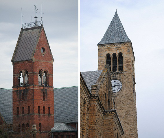 gorgeous towers at cornell university