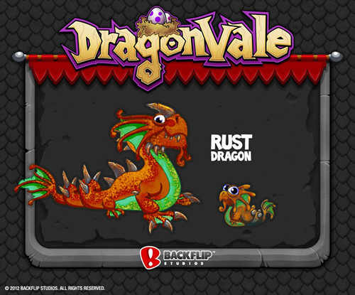 DragonVale Rust Dragon