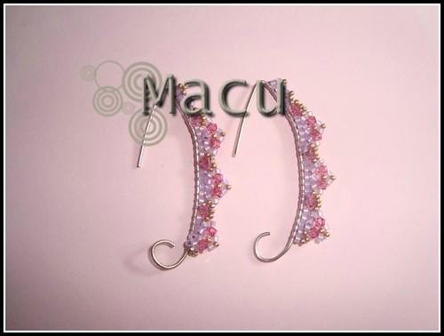 Pendientes Rosas by macu_asturias