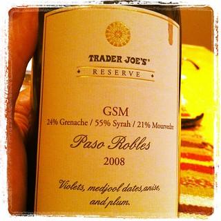2008 Trader Joes GSM Reserve
