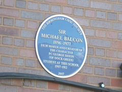 Photo of Michael Balcon blue plaque