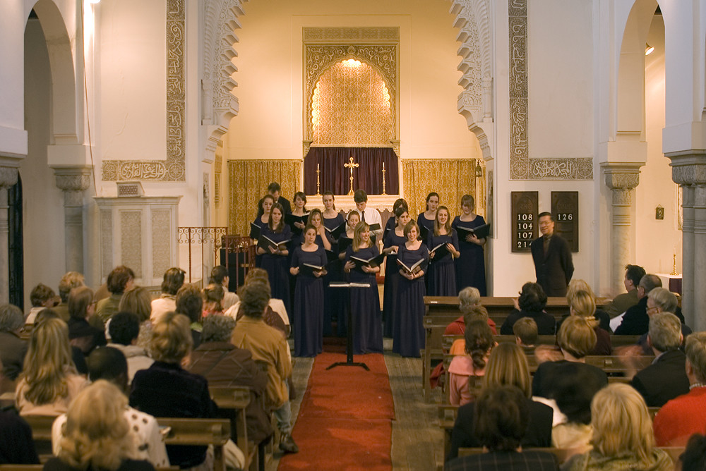 Oak Park and River Forest Children's Chorus perform in St. Andrew's Church in Tangier