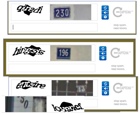 bad google recaptcha house numbers
