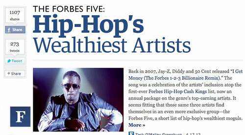Forbes Five Hip Hop Wealth