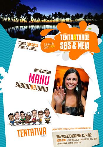 Flyer Aniversário - Seis & Meia bar by chambe.com.br